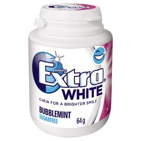 Extra White Bubblemint Chewing Gum SF Bottle 46 Piece 64g