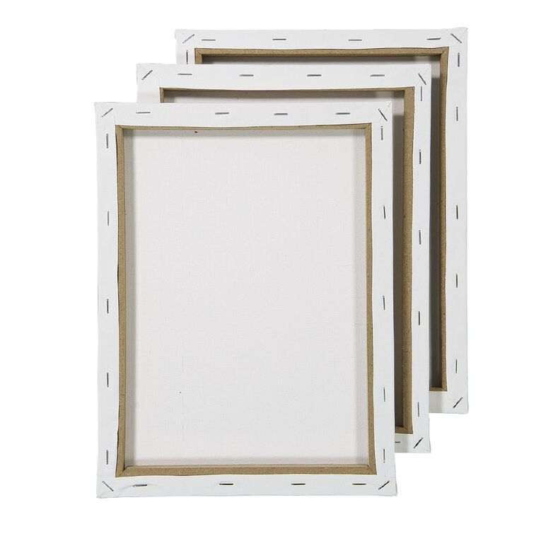 Uniti Blank Canvas 280gsm 9in x 12in 3 Pack, , hi-res image number null