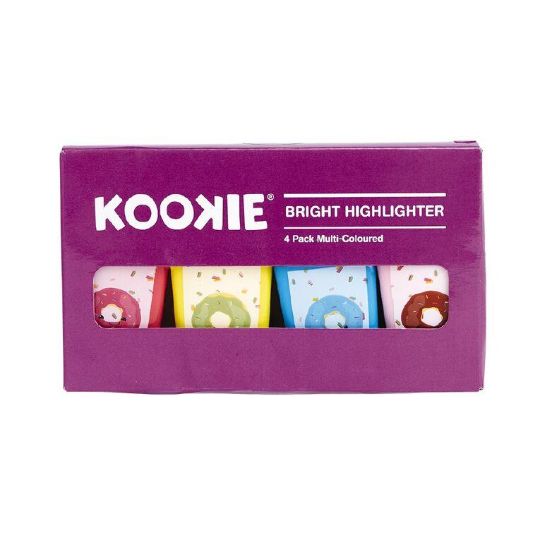 Uniti Bright Highlighter 4 Pack Multi-Coloured, , hi-res