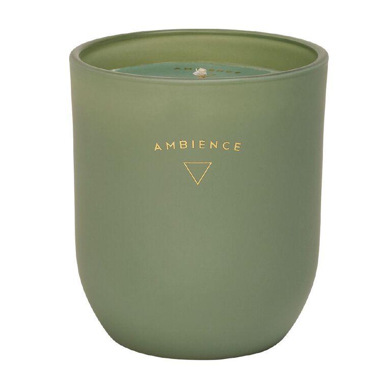 Living & Co Ambience Jar Candle Mango Crush Green 5oz, Green, hi-res