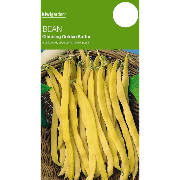Kiwi Garden Bean Climbing Golden Butter, , hi-res