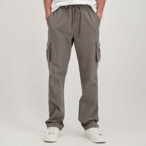H&H Men's Elastic Waist Cargo Pants