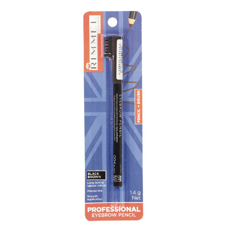 Rimmel Professional Eyebrow Pencil Black, , hi-res