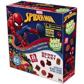 Marvel Spiderman Iddy Biddy Fruit Snacks 8 Snack Packs 160g