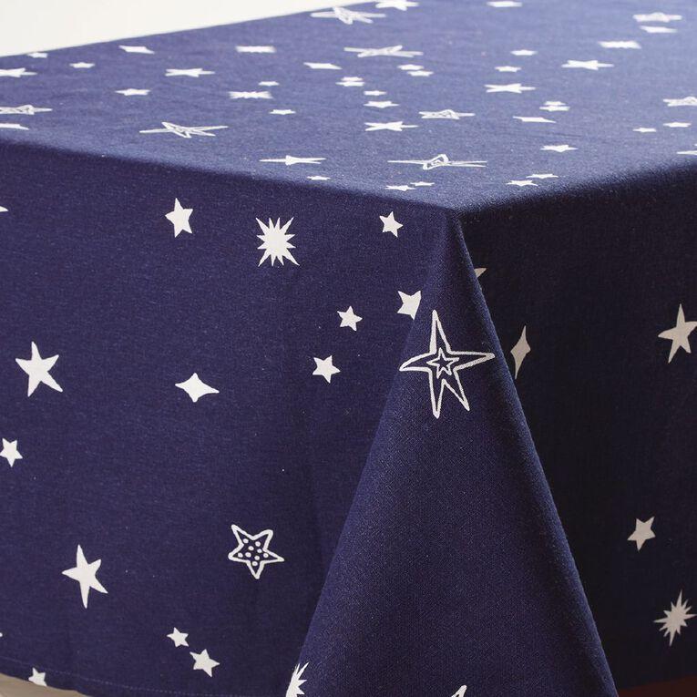 Party Inc Kids' Tablecloth Cotton Star 150cm x 225cm Blue, , hi-res