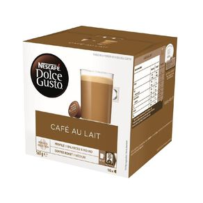 Nescafe Dolce Gusto Capsules Cafe Au Lait 16 Pack