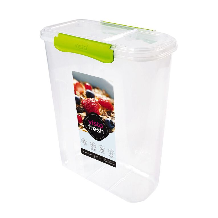 Visto Fresh Cereal Container Clear 4.2L, , hi-res
