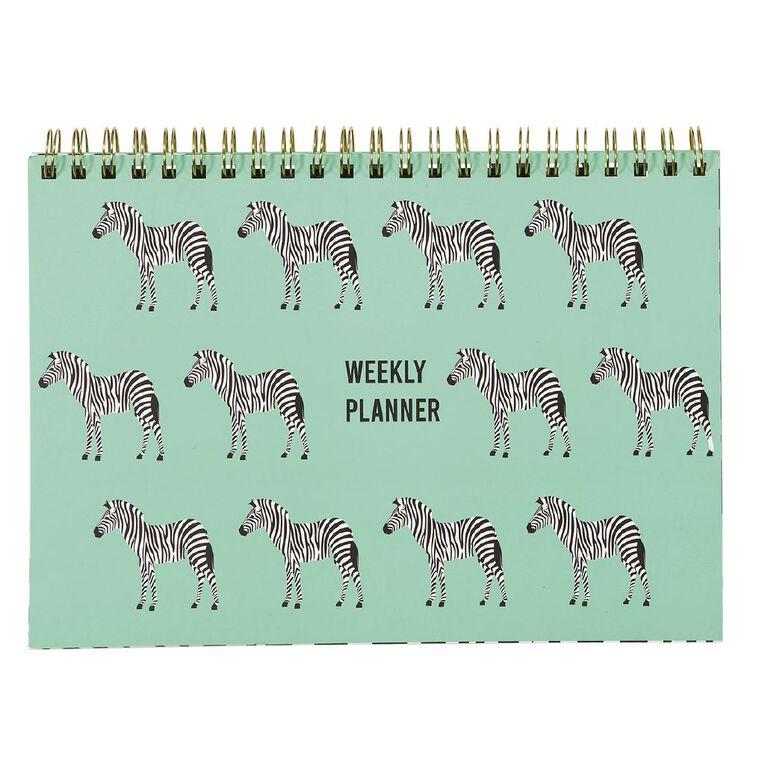 Uniti Fun & Funky Q4 Zee Weekly Planner Green, , hi-res