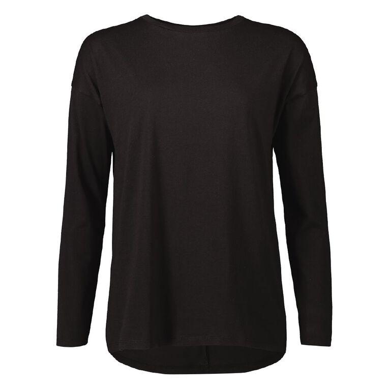 H&H Women's Long Sleeve, Black, hi-res