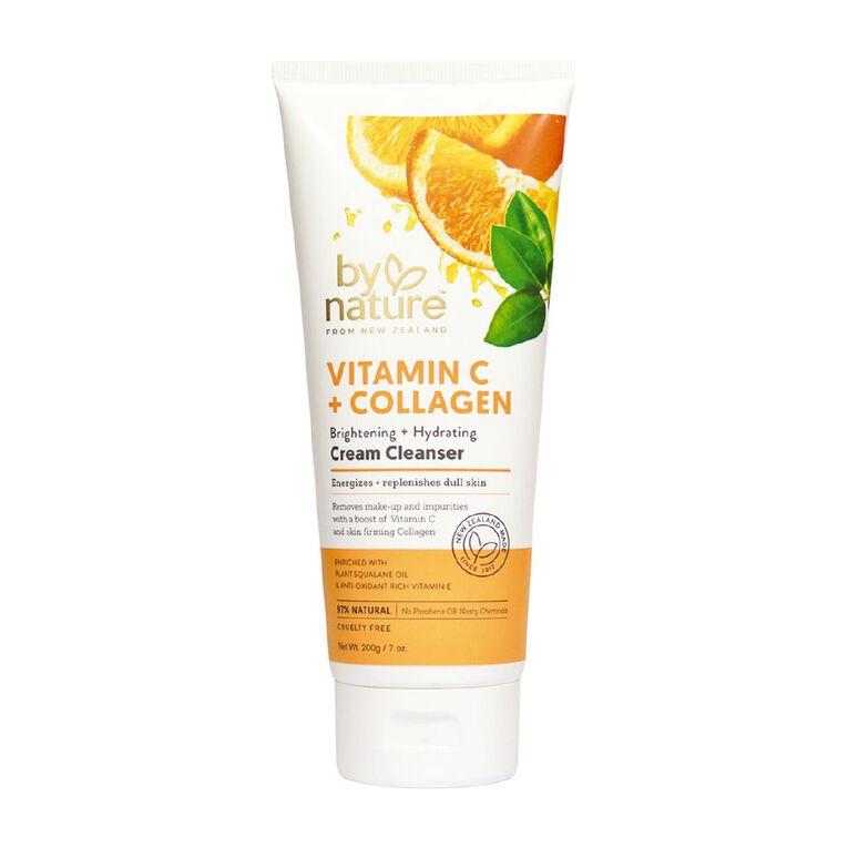 By Nature Vitamin C and Tumeric Collagen Cream Cleanser 200g, , hi-res