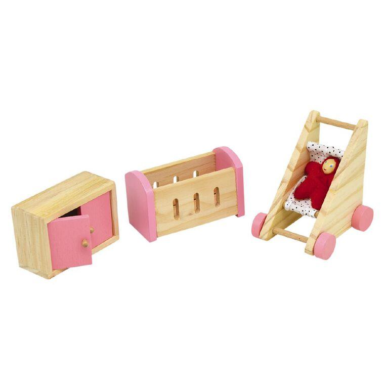 Play Studio Wooden Doll Furniture Set 3p, , hi-res