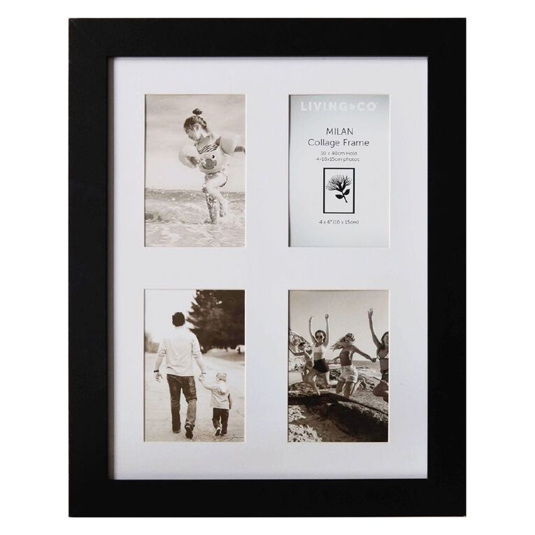 Living & Co Milan Collage Frame 30cm x 40cm Black One Size, Black, hi-res image number null