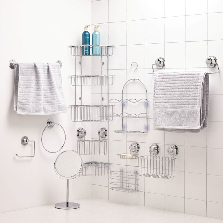 Living & Co Shower Caddy Silver Small, Silver, hi-res