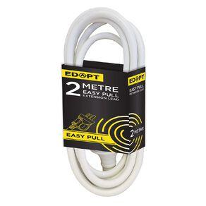 Edapt Easy-Pull Lead Household 2 Metre White 2m