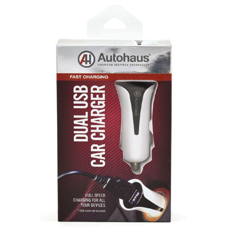 Autohaus 2.4 Amp Dual Port USB Car Charger, , hi-res
