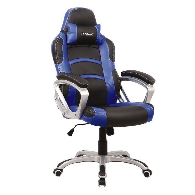 Playmax Gaming Chair Blue, , hi-res