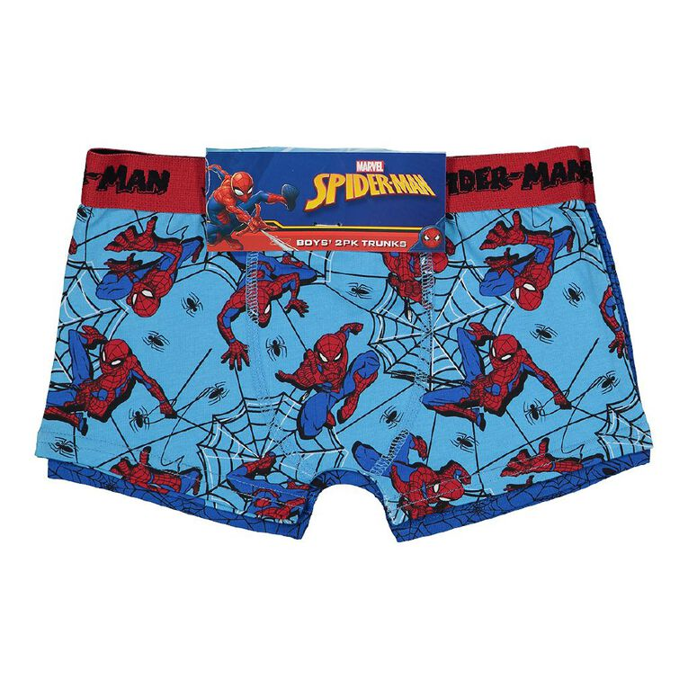 Spider-Man Boys' Trunks 2 Pack, Light Blue, hi-res