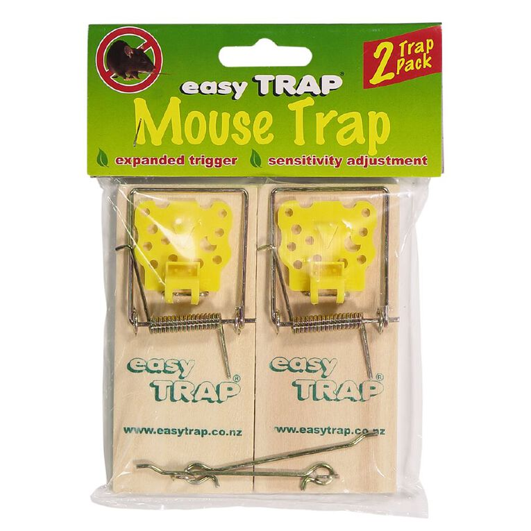 Easy Trap Catcha Wooden Mouse Trap 2 Pack, , hi-res