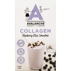Avalanche Collagen Blueberry Bliss Smoothie 7 Pack