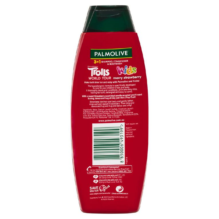 Palmolive Kids 3-in-1 Merry Strawberry 350ml, , hi-res