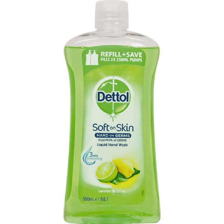 Dettol Liquid Soap Handwash Refill Lemon & Lime 500ml, , hi-res