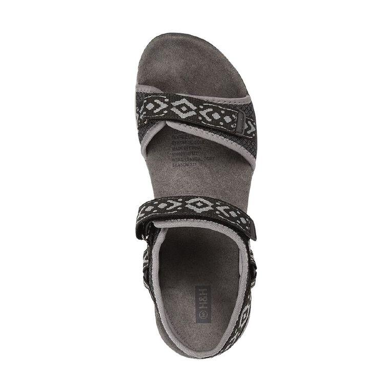 H&H Beach Sandals, Grey Dark, hi-res
