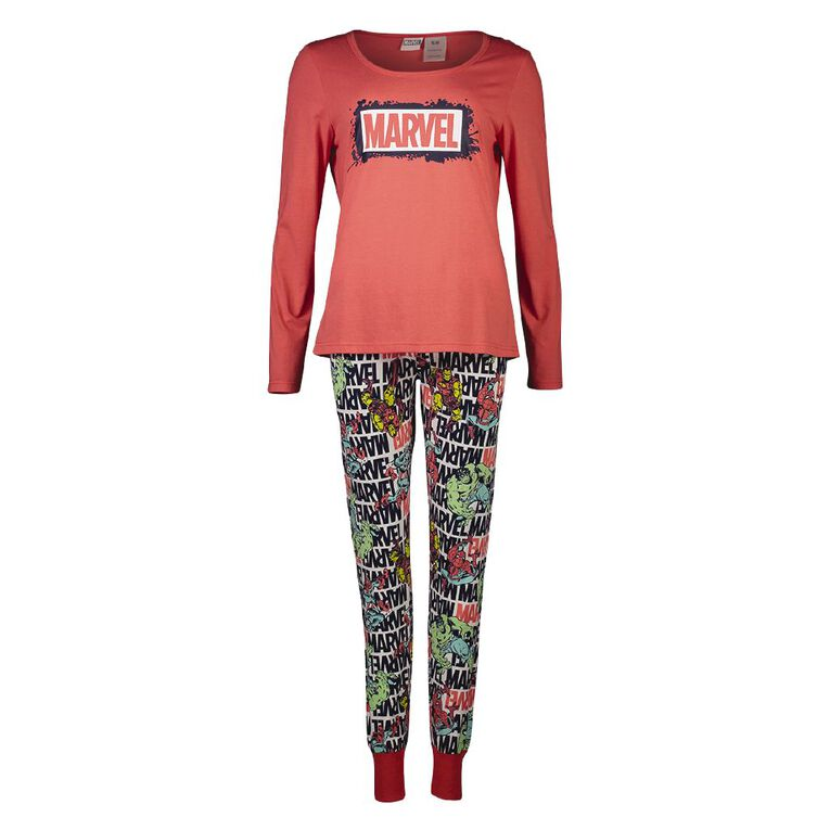Marvel Women's Knit Pyjama Set, Black, hi-res