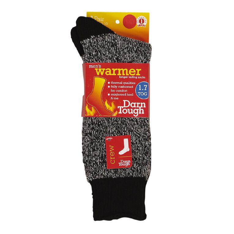 Darn Tough Men's Crew Socks 1 Pack, Black, hi-res