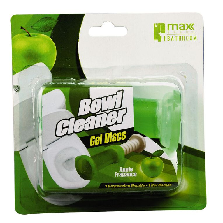 Maxclean Max Brand Toilet Cleaning Gel w Dispenser Apple 6s, , hi-res