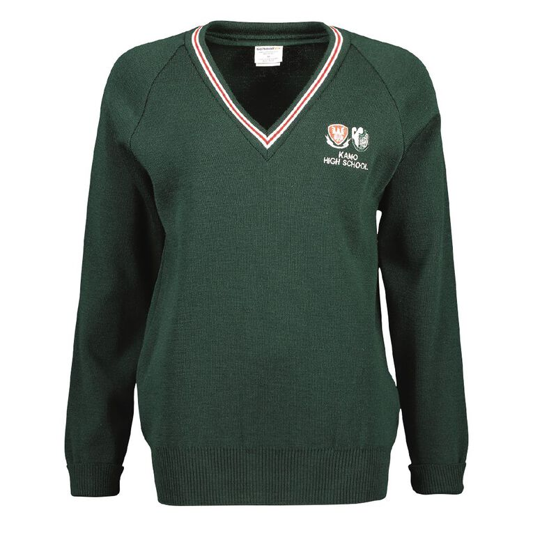 Schooltex Kamo High School Jersey with Embroidery, Bottle Green, hi-res