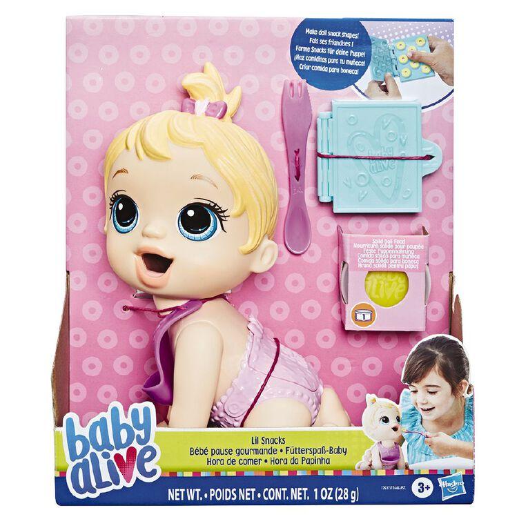 Baby Alive Lil Snacks Baby Blonde Hair, , hi-res
