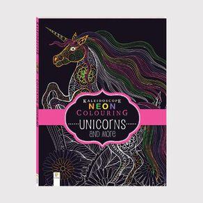Kaleidoscope Neon Colouring: Unicorns & More