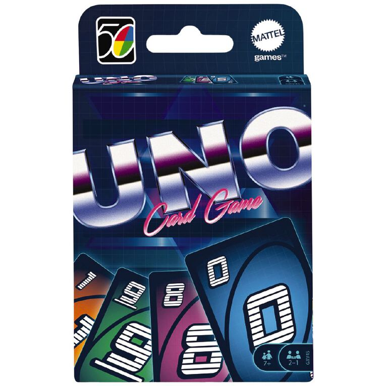 UNO Game Iconics 80s Collector Card Game, , hi-res
