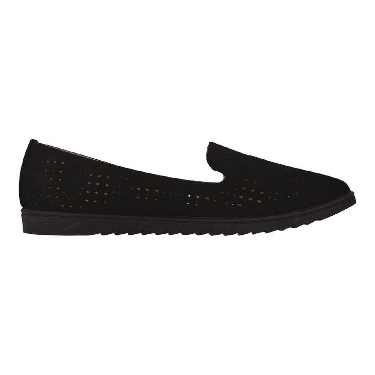 H&H Laura Ballet Shoes, Black, hi-res