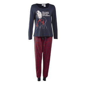 Disney Women's Knit Long Sleeves Pyjama Set