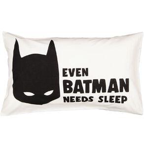 Batman Pillowcase Cotton 180 Threadcount White 48cm x 73cm