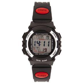 Active Intent Kids' Digital Watch Black Red