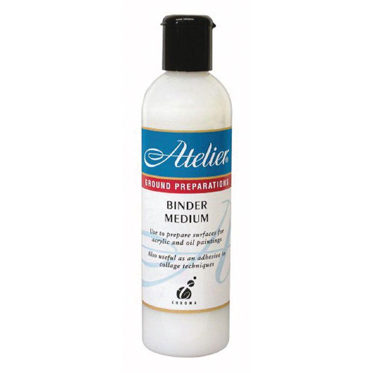 Atelier Binder Medium 250ml White, , hi-res