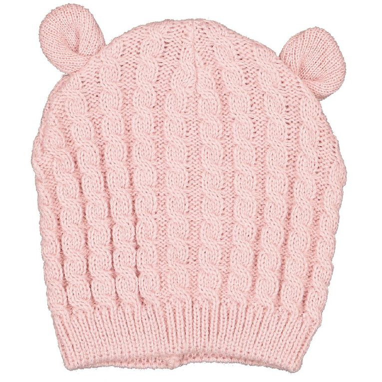 Young Original Infants' Knit Cable Beanie, Pink Light, hi-res image number null