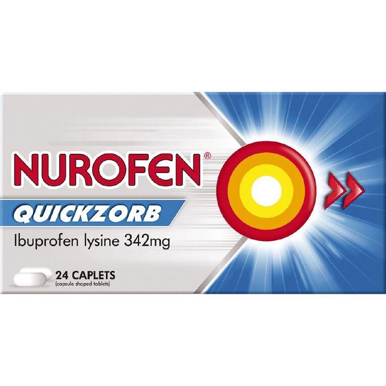 Nurofen Quickzorb Caplets 24s, , hi-res