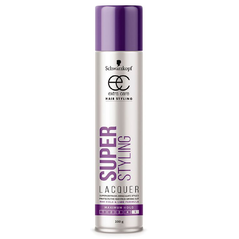 Schwarzkopf Extra Care Super Hold Lacquer 100g, , hi-res