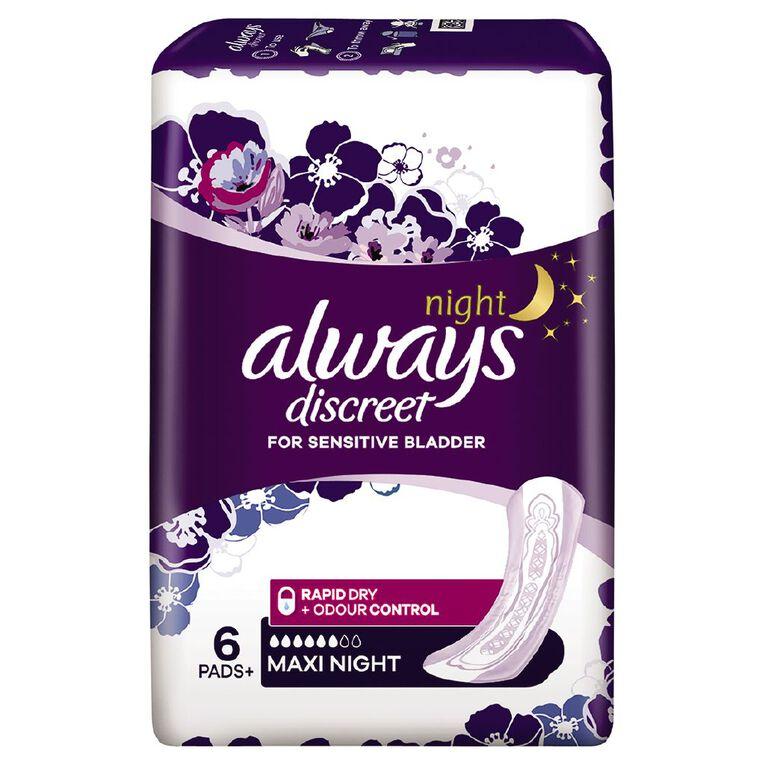 Always Discreet Pad Maxi Night 6 Pack, , hi-res