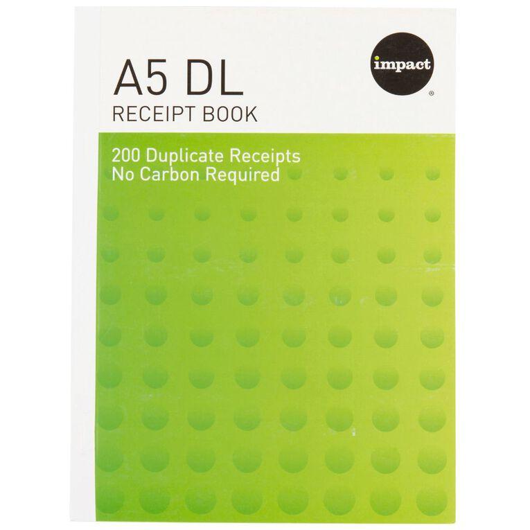 WS Receipt Book A5/4Dl Ncr 200 Receipts Green, , hi-res