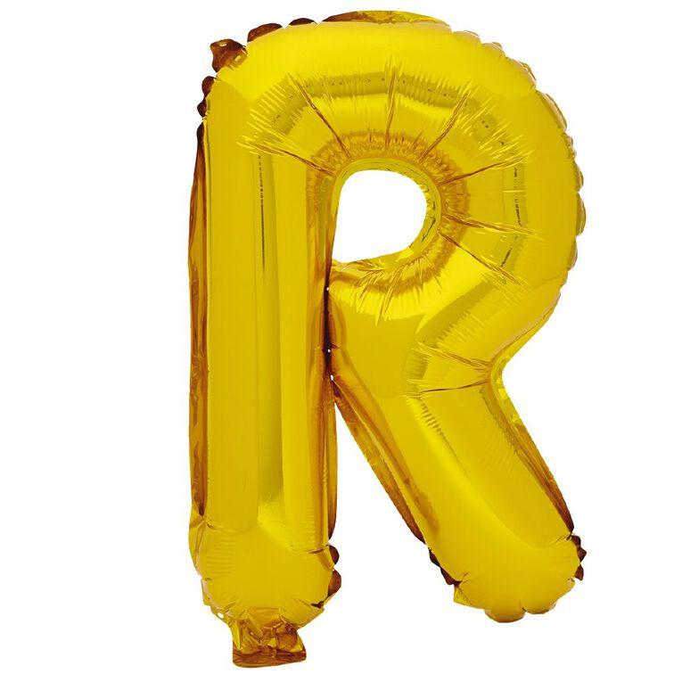 Artwrap Foil Balloon R Gold 35cm, , hi-res