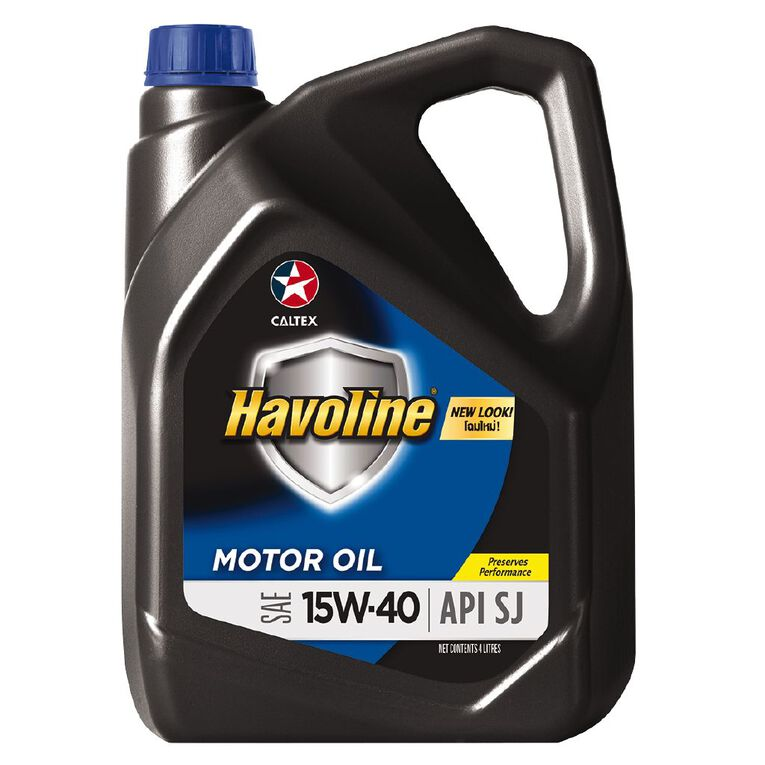Caltex Havoline Engine Oil (SJ) 15W-40 4L, , hi-res