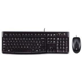 Logitech Wired Keyboard & Mouse Desktop Combo - MK120 Black