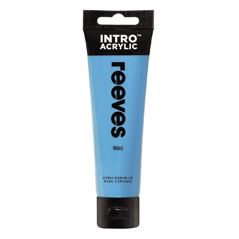 Reeves Intro Acrylic Paint Cerulean Blue 100ml, , hi-res