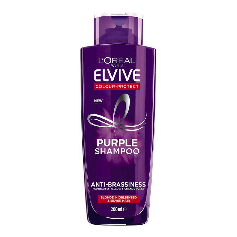 L'Oreal Paris Elvive Colour Protect Purple Shampoo 200ml, , hi-res