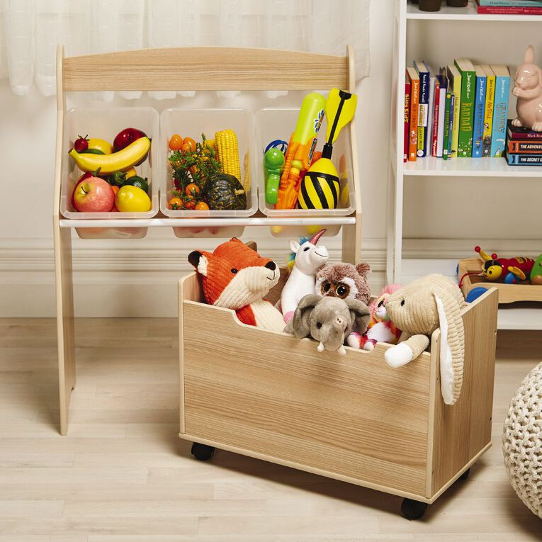 Living & Co Pandi Kids Organiser Unit with Toy Box, , hi-res