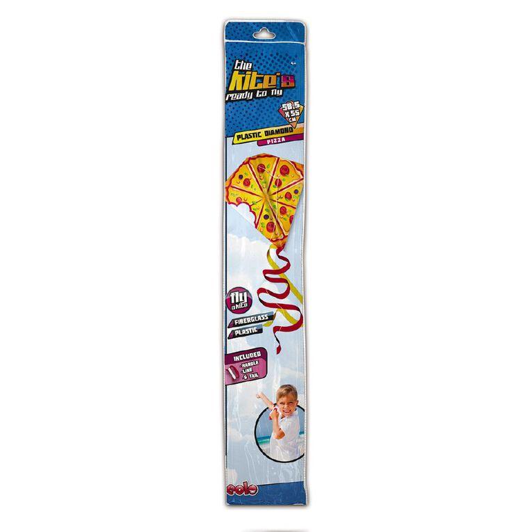 EOLO Ready To Fly Plastic Diamond Kite Pizza, , hi-res